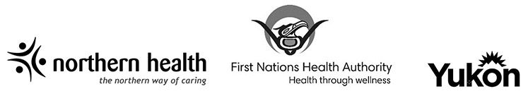Northern Health, FNHA and Yukon logos
