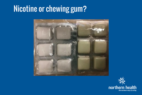 Nicotine chewing gum comparison.