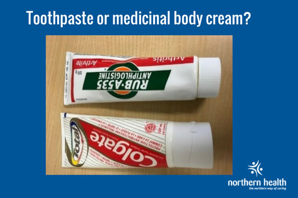 Toothpaste and Rub-A535 beside each other.