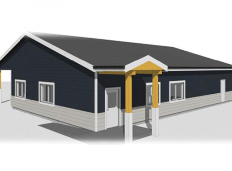 Drawing of new Atlin Health Centre.