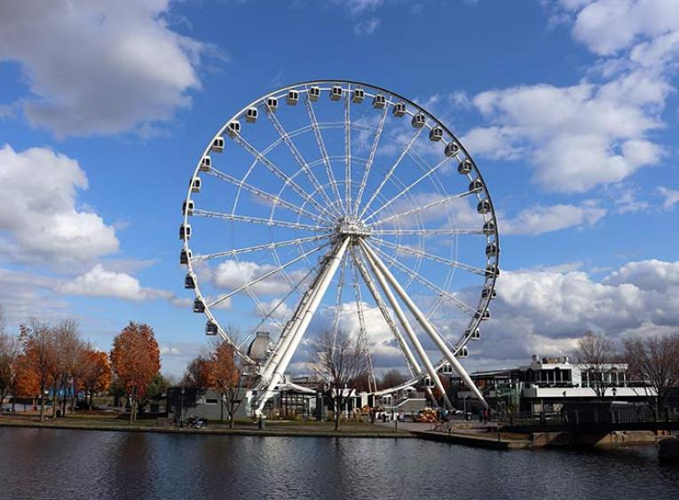 The Montreal Observation Wheel in Montreal Quebec.
