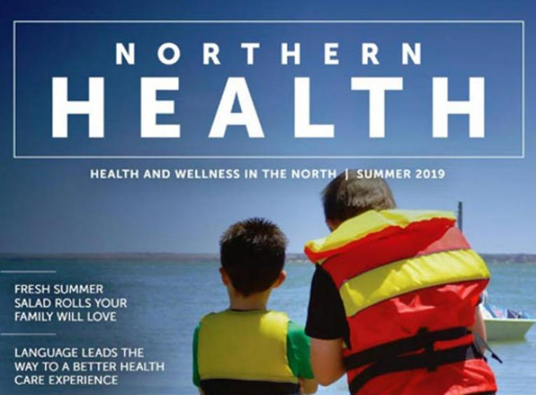 The cover of the summer 2019 edition of Northern Health: Health and Wellness in the North