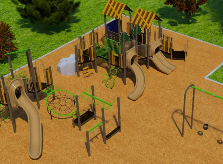 The first view of Mackenzie's new playground's conceptual design.