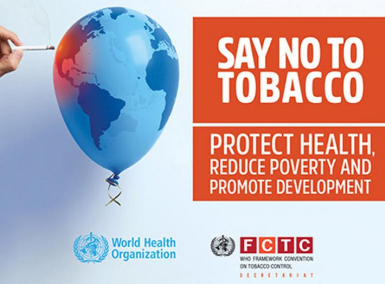 Say no to tobacco WHO graphic