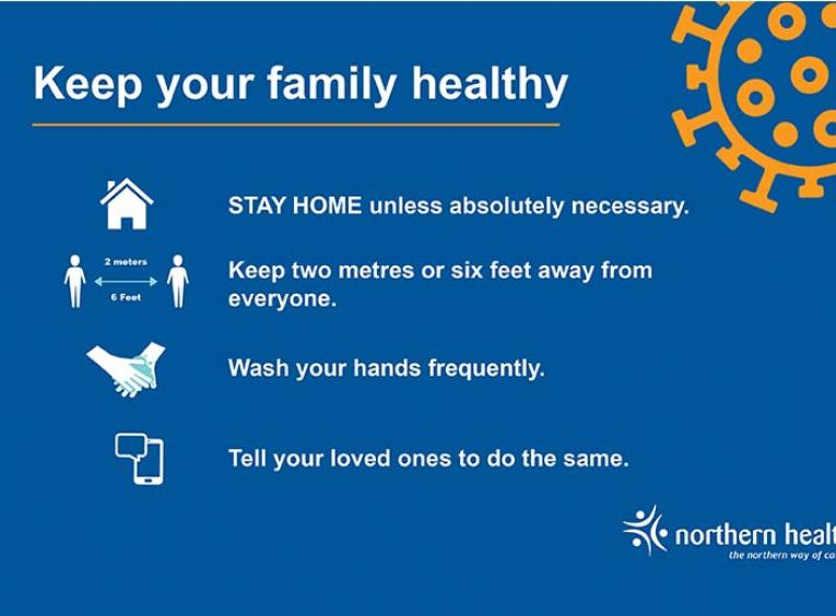 Keep your family healthy graphic.