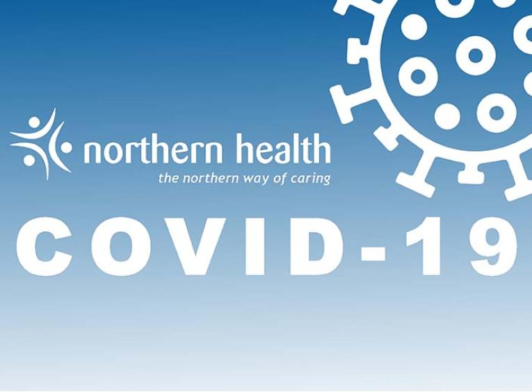 "An image has the Northern Health logo and says, ""COVID-19."""