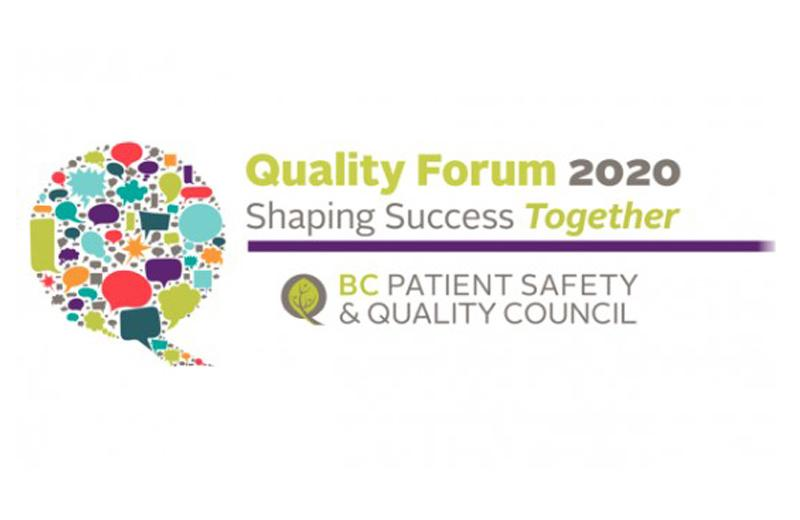 The logo for the 2020 BC Quality Forum.