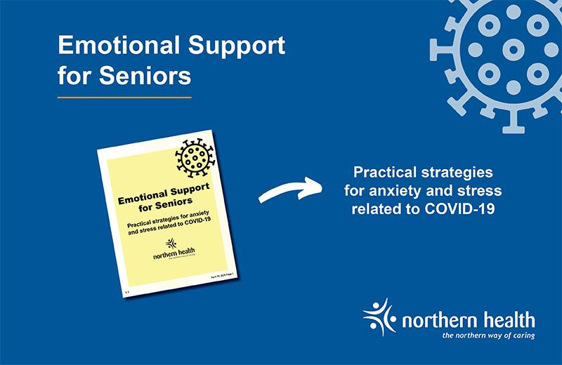 A graphic promotes an emotional support for seniors document.
