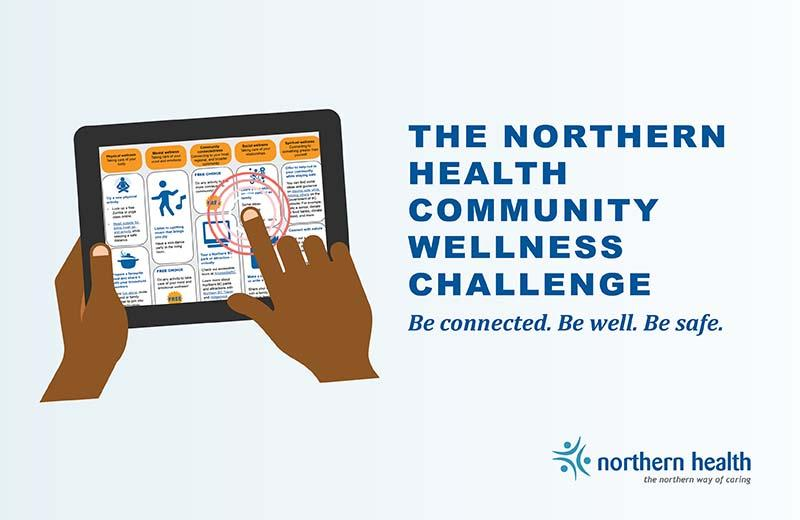 A graphic promotes the Wellness Challenge.