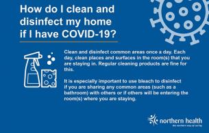 A graphic with information about cleaning and disinfecting during the COVID-19 pandemic.