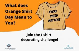What does Orange Shirt Day mean to you? T-shirt decorating challenge graphic.
