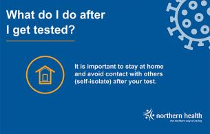What to do after you get tested for COVID graphic