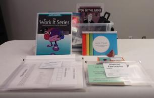 Resources on display show contents of Cognitive Care Kit